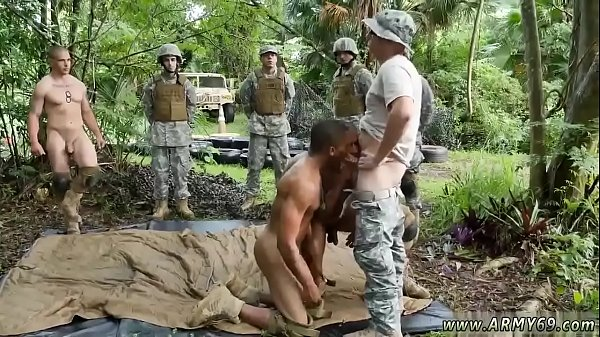 Military men in showers gay Jungle smash fest