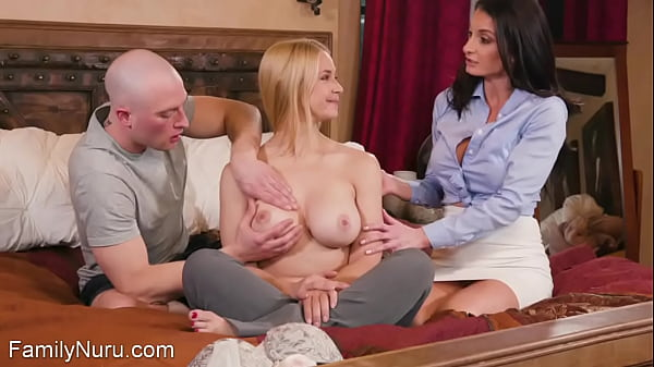 Dude fucked by his teacher and busty stepmom