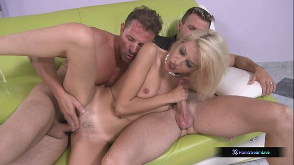 Blanche takes David Perry and Choky Ice in hot double penetration