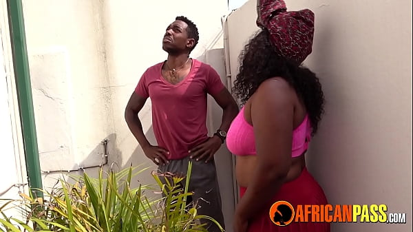 African Girlfriend Blowing Me While Neighbors W...