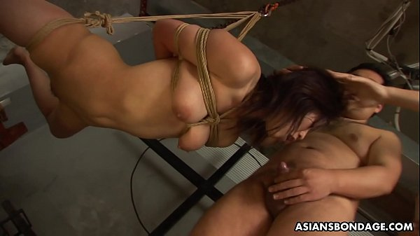 Naughty girl, Kana Sato got tied up and throatfucked