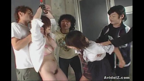 Japanese school girl tied up, tortured and fucked hard uncensored