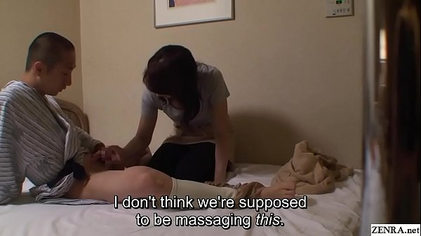 Japanese hotel massage exposing erection for ne...