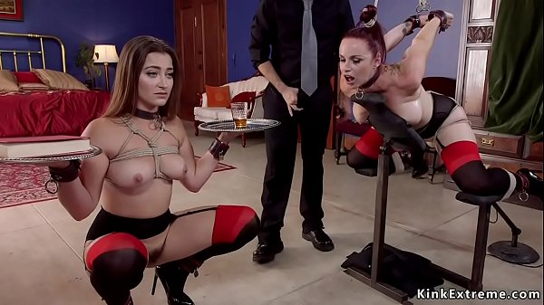 Lucky dude fucks trained slaves in bdsm Thumb
