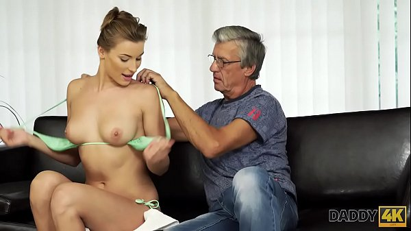 DADDY4K. Beauty finally gets chance to make love with BF's old father Thumb