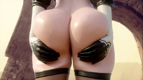 2B Showing And Teasing Her Beautiful Ass