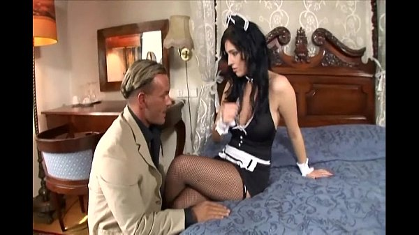 Maid fucking in her uniform and fishnet stockings Thumb