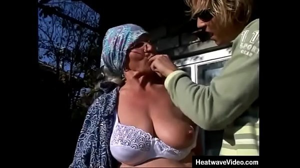 Young grandson really knows how to make his slutty grandma moan! Thumb