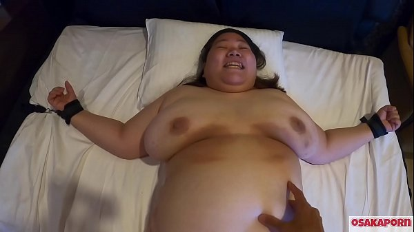 tickling super fatty Japanese girl bouncing huge tits and fat BBW tied asian can't move OSAKAPORN