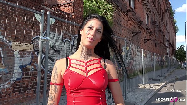 GERMAN SCOUT - SKINNY FACE TATTOO TEEN MINA TALK TO PUBLIC FUCK AT REAL STREET AGENT CASTING IN BERLIN