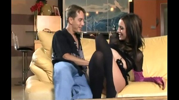 Sex and anal sex in black stockings and high heels
