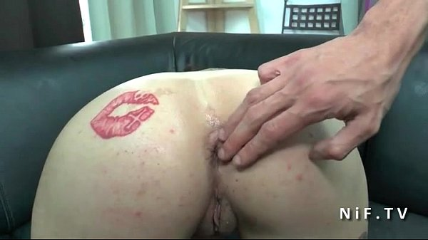 Amateur Horny french brunette emo slut hard anal plugged in 3way