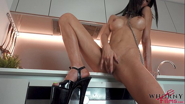 Hot big tits Evilyn Jezebel brunette in leash playing pet girl gets hardcore submissive fuck and pussy squirted - WhornyFilms.com