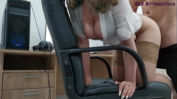 Caught His Subordinate Jerk Off, Fucked Her In The Ass, Fucked In The Mouth And Cum Inside