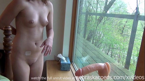 tiny girl with braces using huge extreme dildo ...