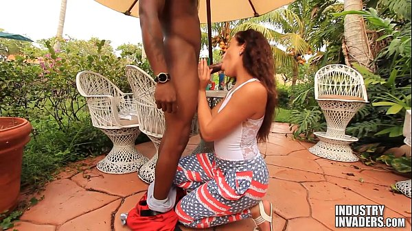 Sexy Latina Sucks Black Dick For Fireworks With Lucy Monroe Thumb