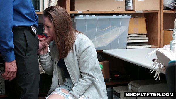Shoplyfter - Cute Teen (Hayden Hennessy) Fucks Her Way Out Of Trouble Thumb