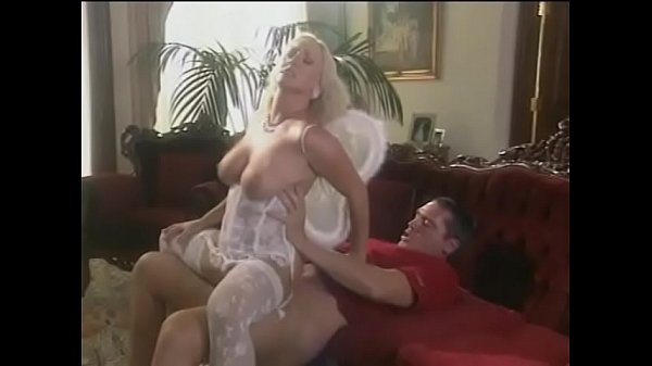 Beautiful fair-haired full-breasted angel Calli Cox helps dude to make himself at Heaven like at home