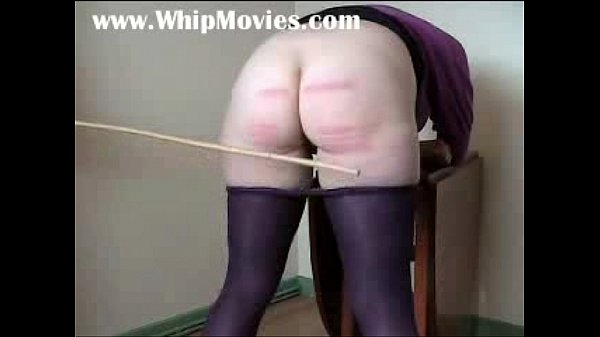 Severe caning for chubby ass's wife