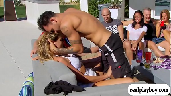 Married people enjoying some oral games