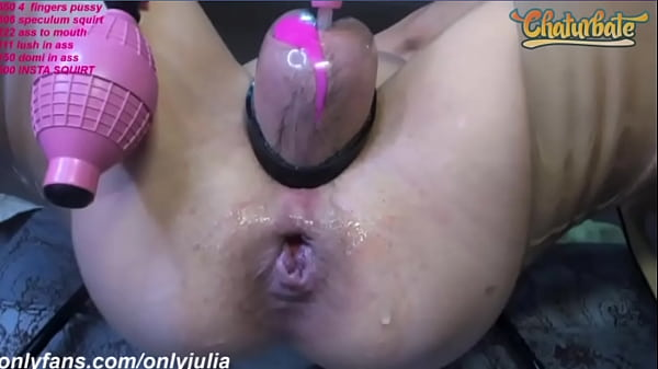 Julia Pumped Pussy Squirts and Anal Ball