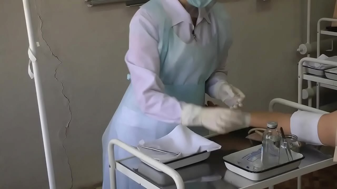 nurse in the treatment room