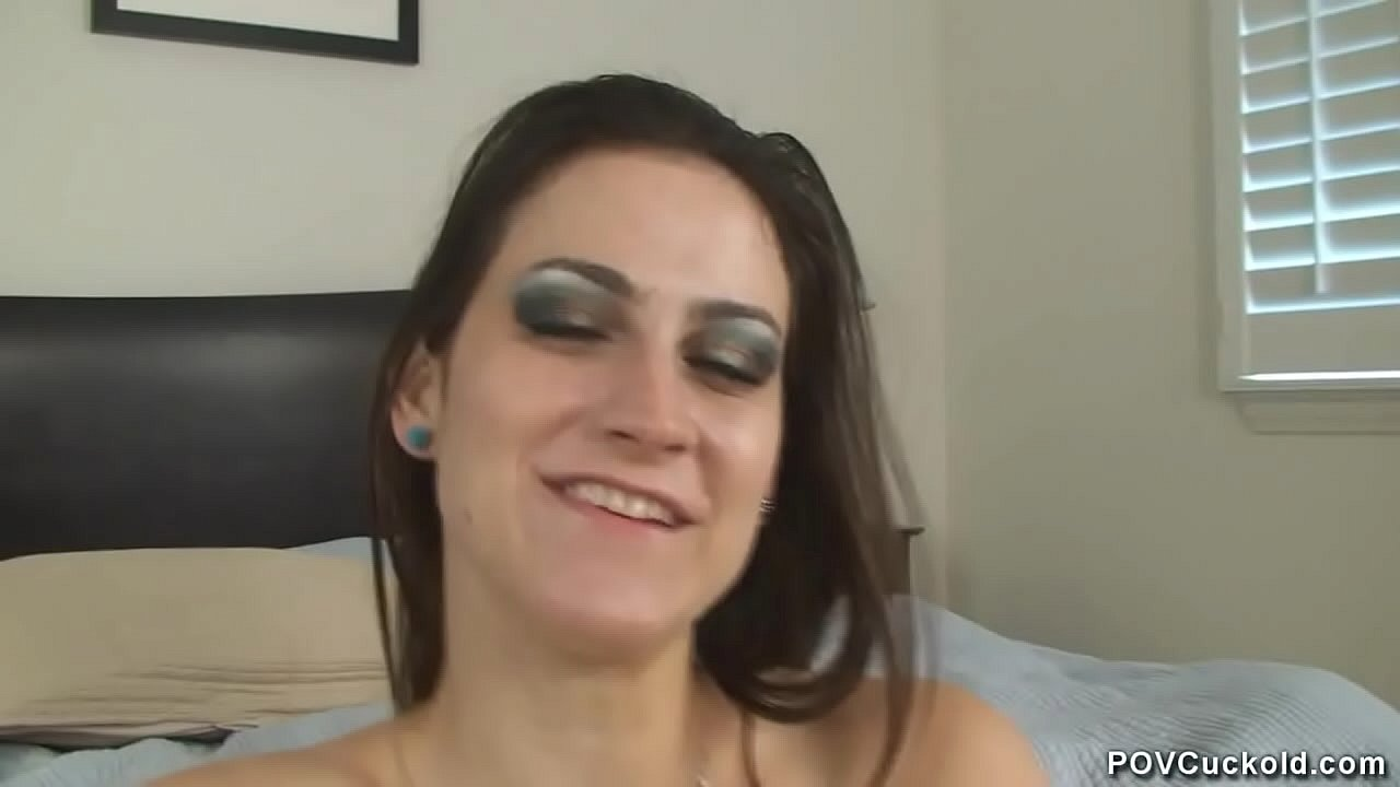 Sissy pantyhose blowjob and cock slapping by hot step daughter who cuckolds a guy and locks him in chastity  thumbnail