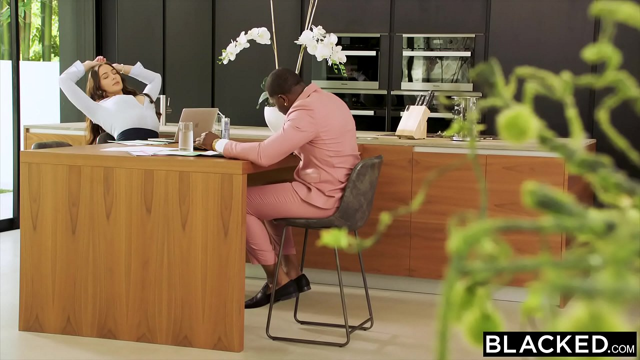 BLACKED Hot Brunette Blair can't resist her coworkers'  BBC