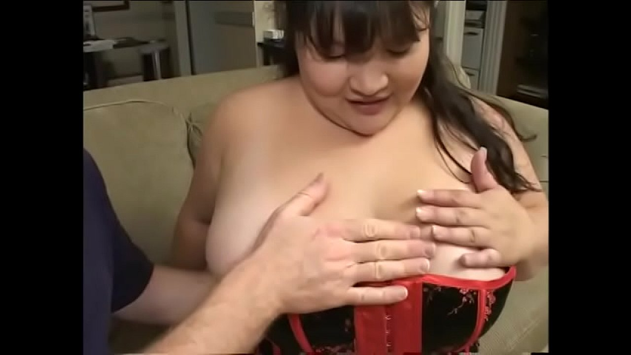 Successor of Japanese sumo wrestlers  Kelly Shibari in black and red corset toplikes to get her big boobs jizzed and wet pussy nailed