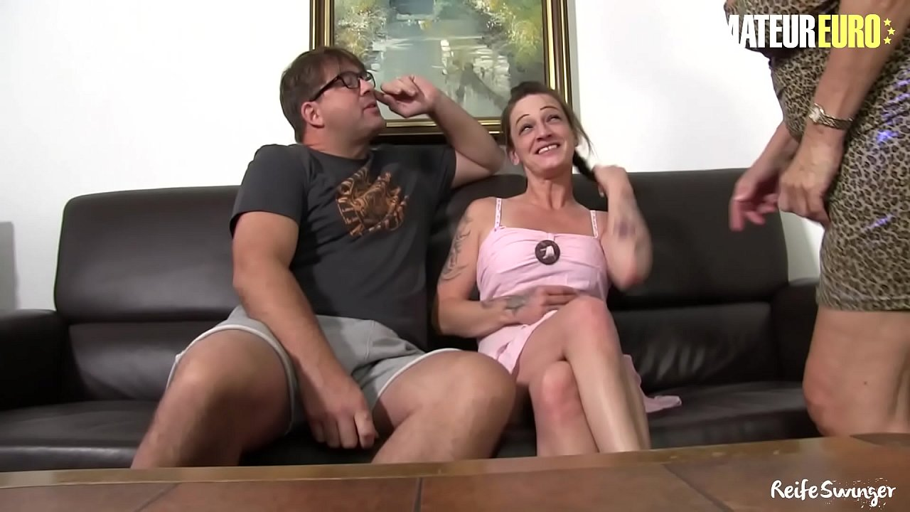 AMATEUR EURO - Hot FFM Sex With Two Horny Mature Ladies (Angelika J. & Adrienne Kiss)