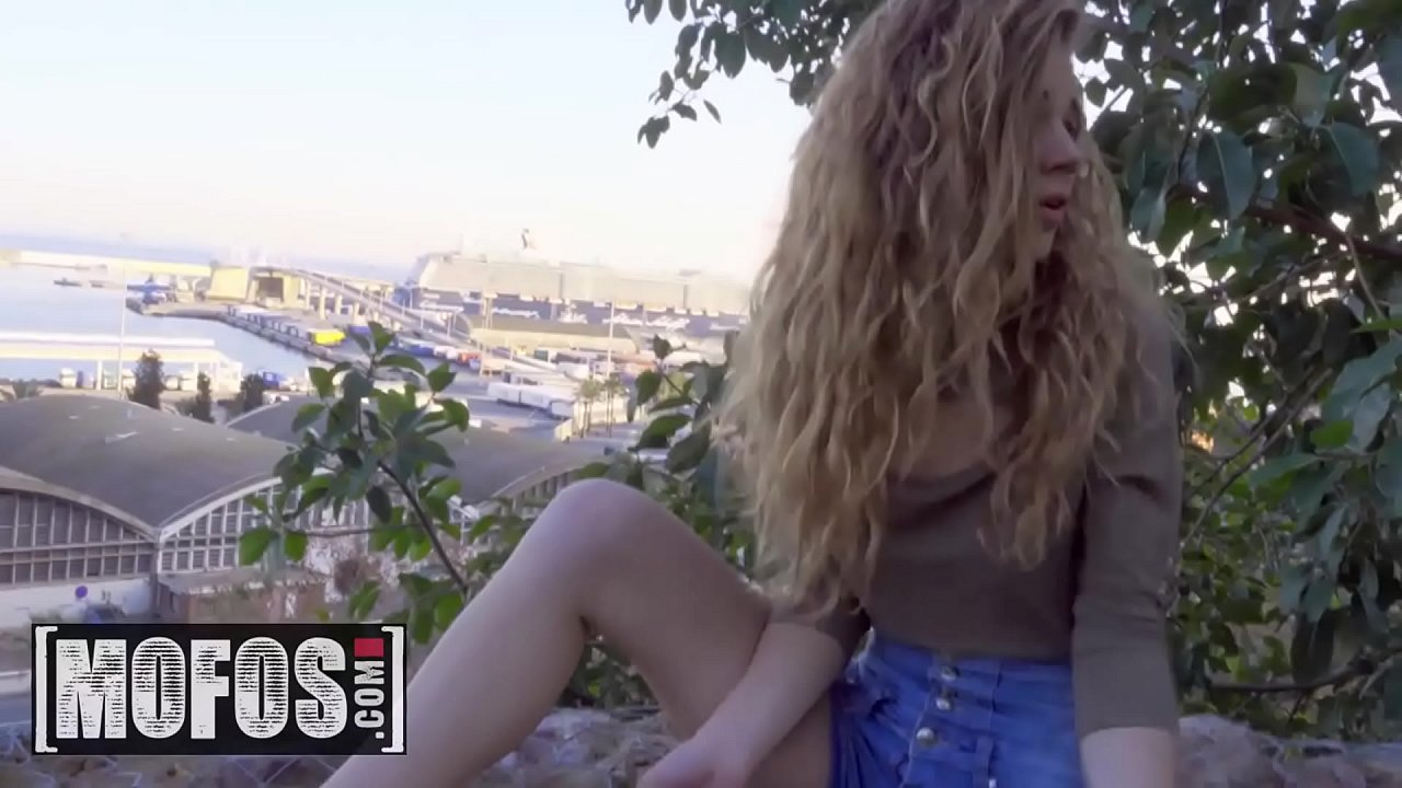 Gorgeous blonde (Sabrina Spice) fills her pussy with big cock in public - MOFOS