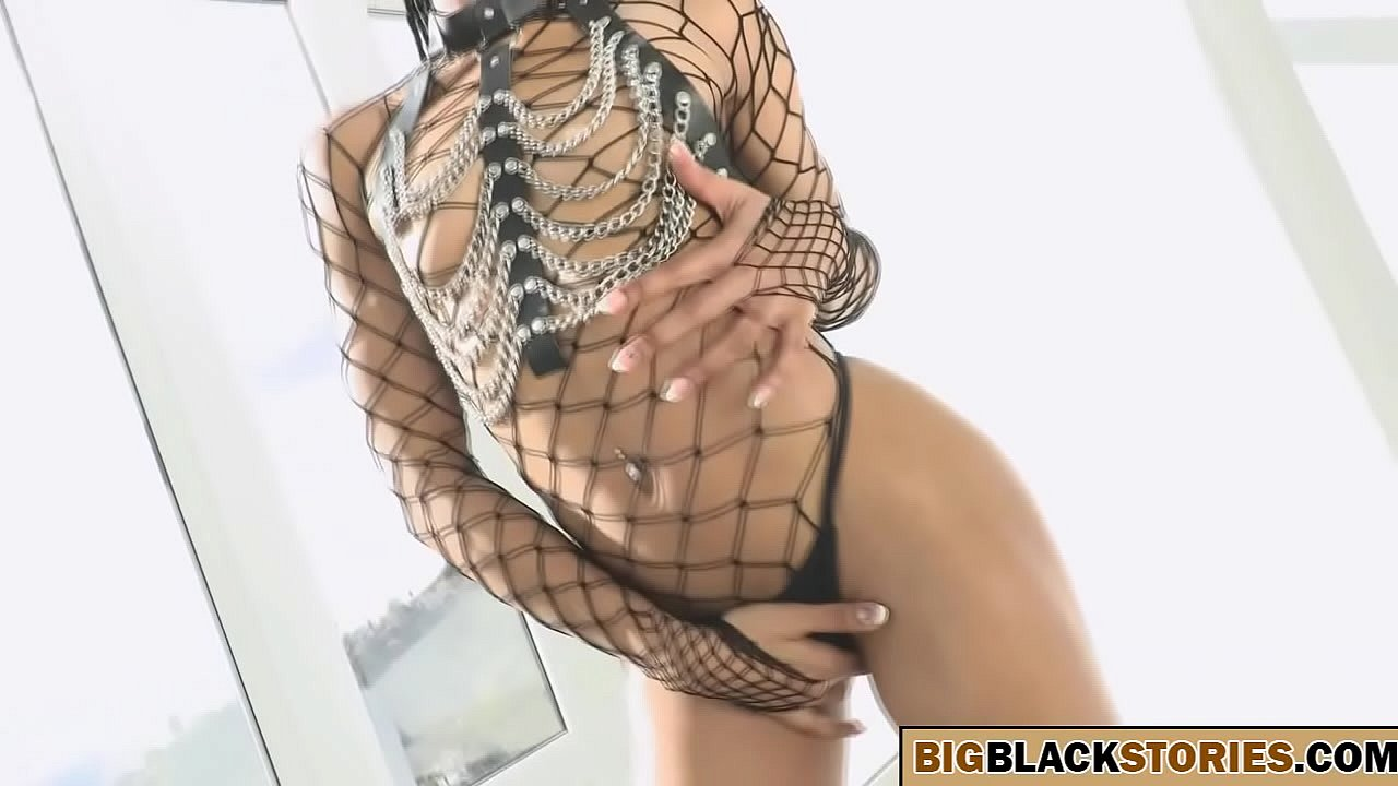 girl with small tits suffering with a big black cock