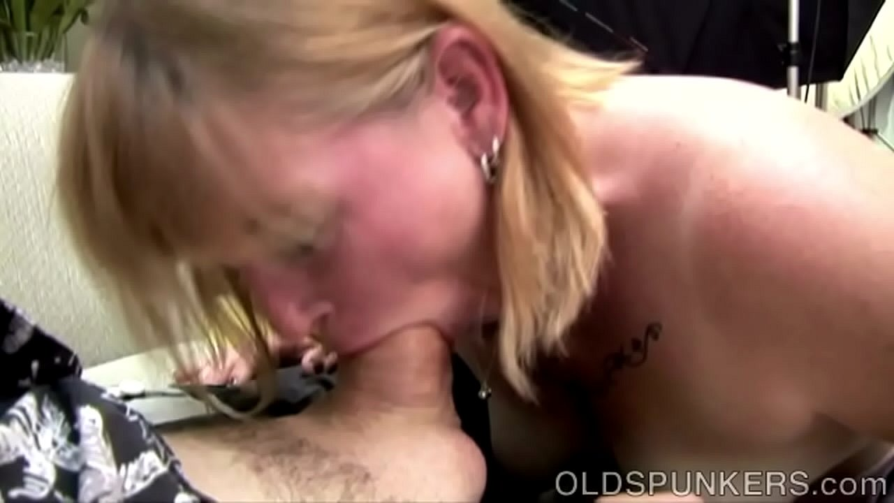 Mature Blonde Sucking Cock