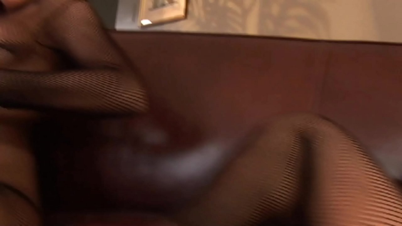 Big Dick Fishnet Fantasies Threesome Fuck at home with the French Maid
