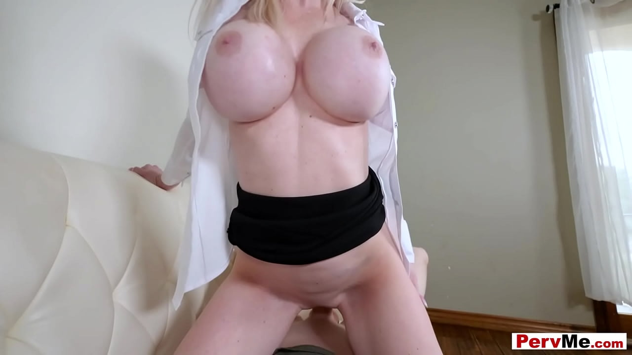 Blonde stepmother with huge tits gets fucked pov style pervme Stepmom With Huge Tits Gets Fucked From Behind Pov Style Xvideos Com