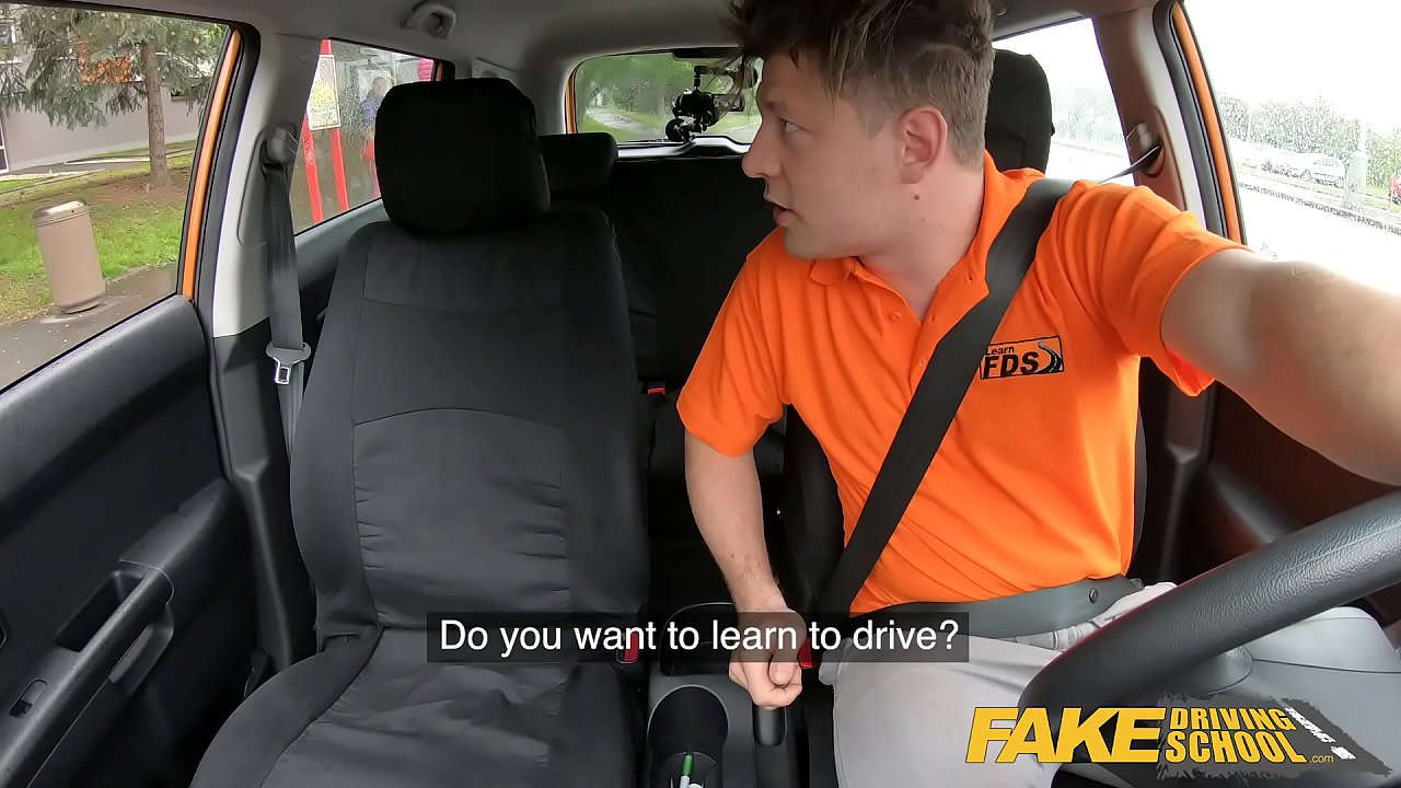 Fake Driving School Cute teen brunette pussy stretched  thumbnail