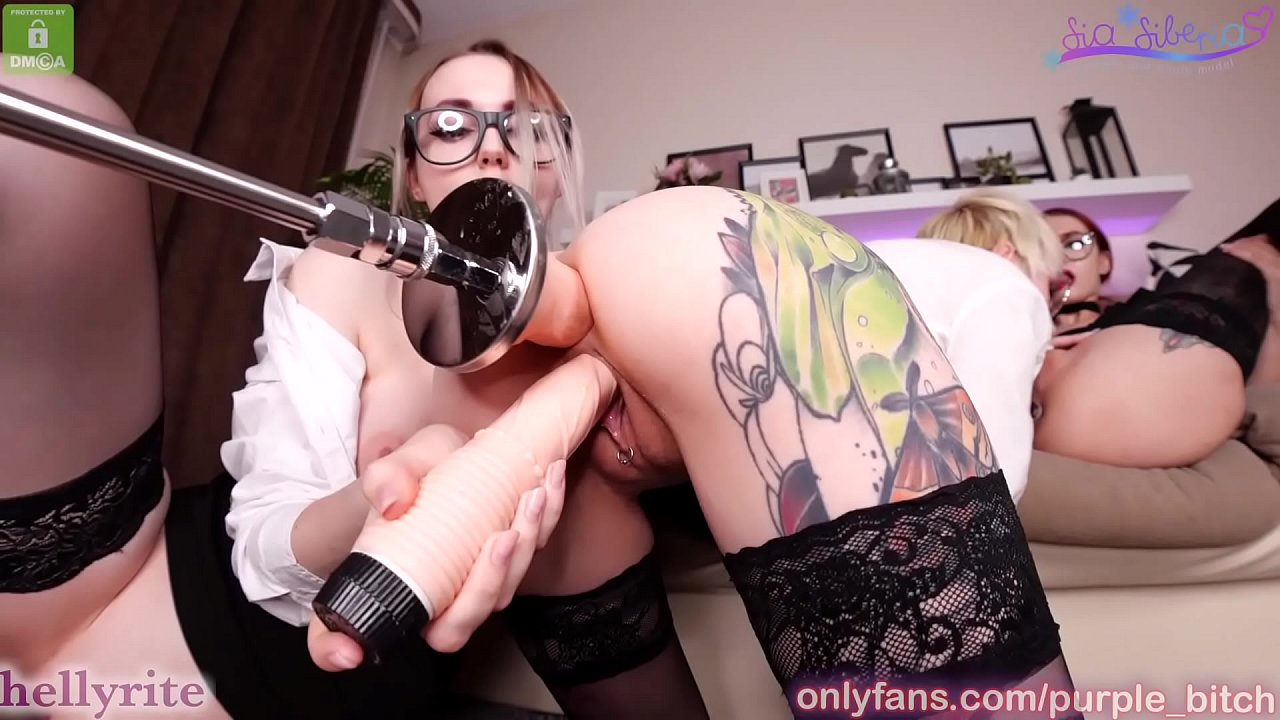 Boss plays with assistants sex toys dildo threesome lesbian