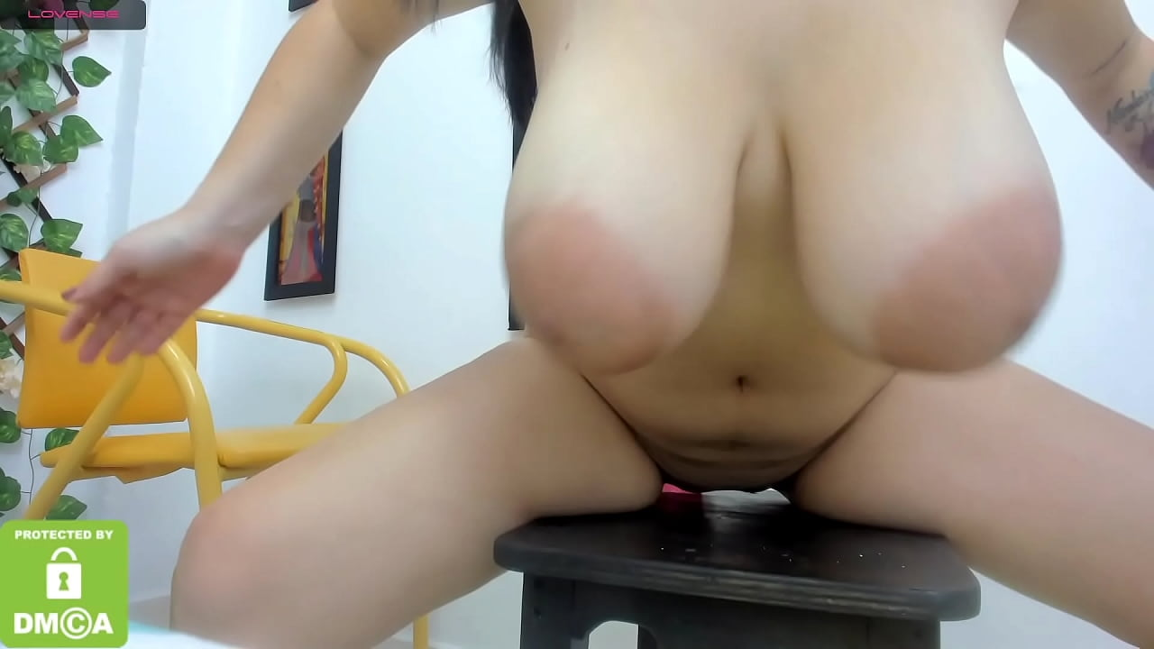 Busty Latina Riding Dildo
