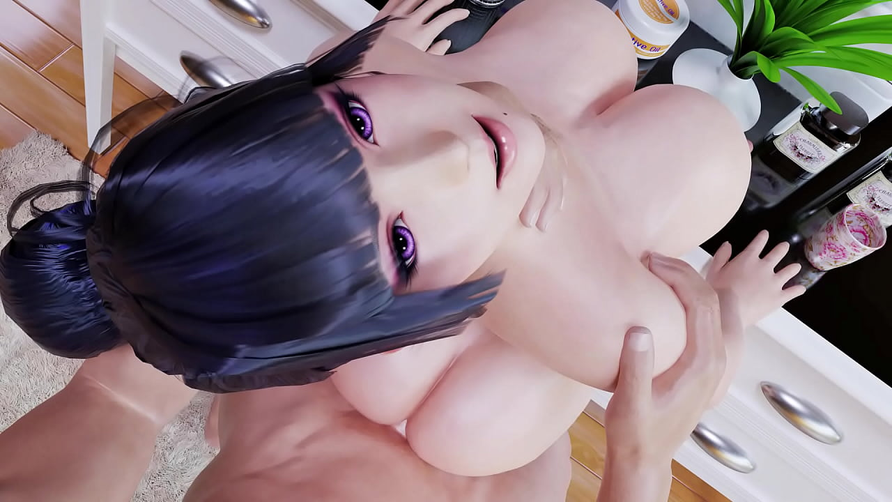 Nyotengu's Titties Bounce While Getting Butt Fuck Against A Desk