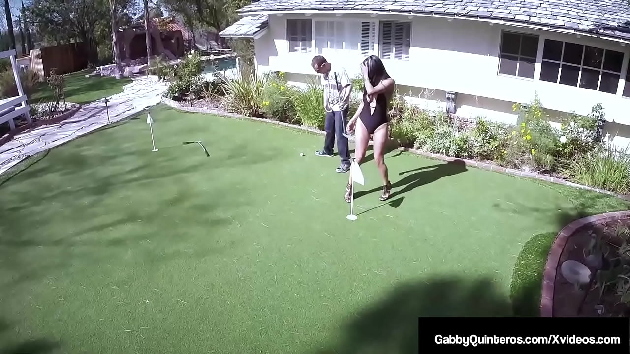 Horny Hot Mexican Wife Gabby Quinteros Cheats On Golf & On Her Husband