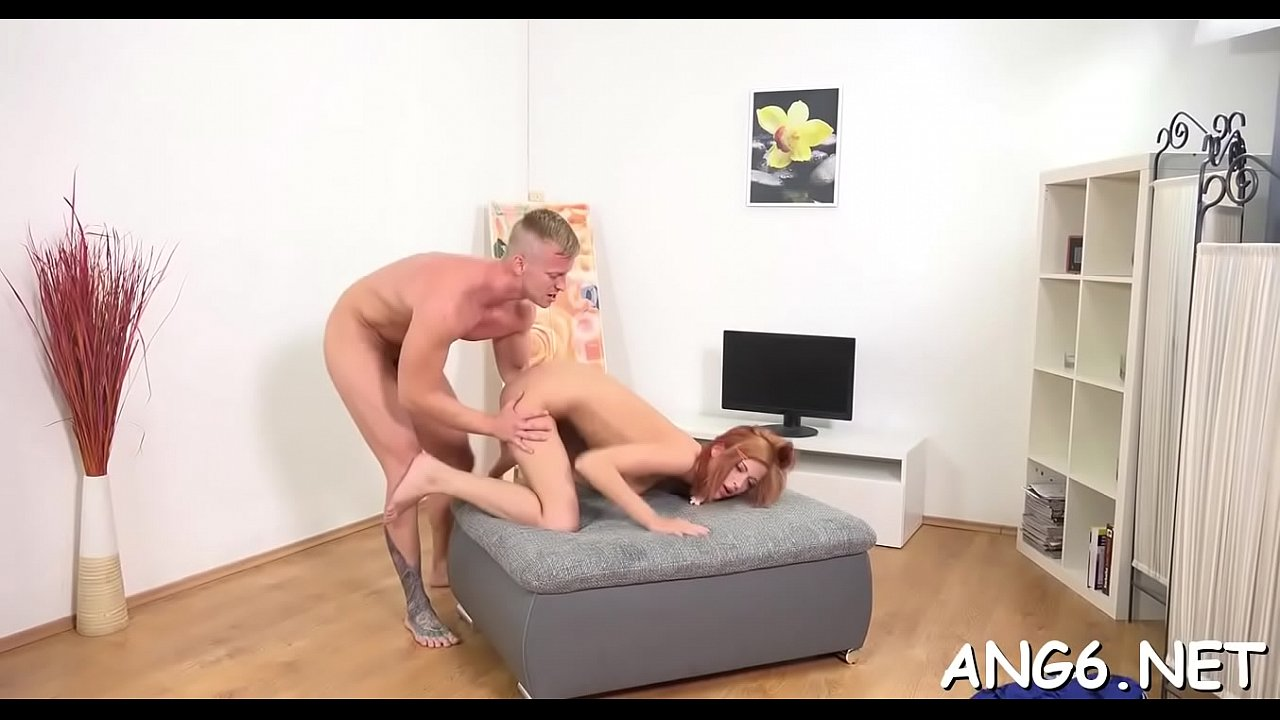 Voluptuous redhead girlfriend Isabell cums from prick licking