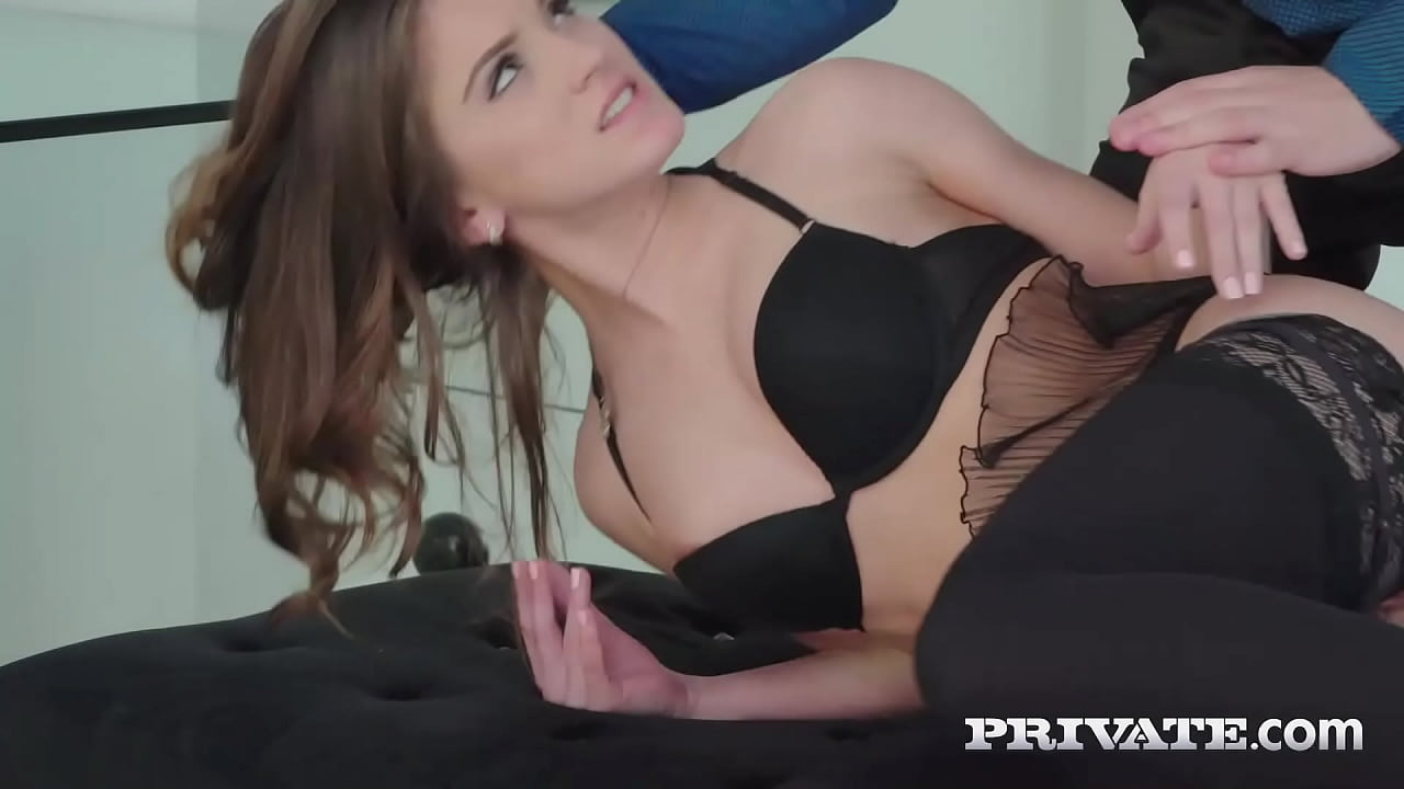 Hot Brunette Babe Evelina Darling Ass Fucked In Lace Stockings