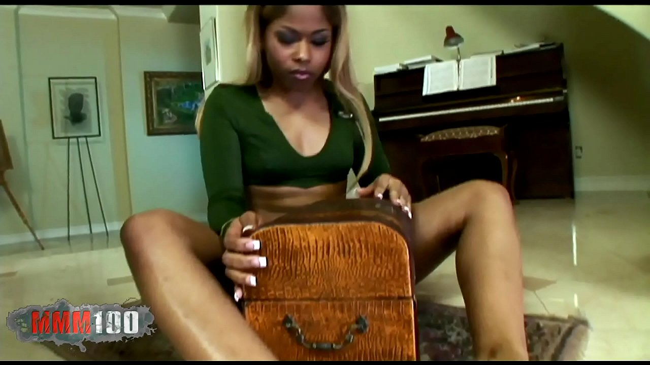 Beautiful black babe with perfect ass fucked by huge cock