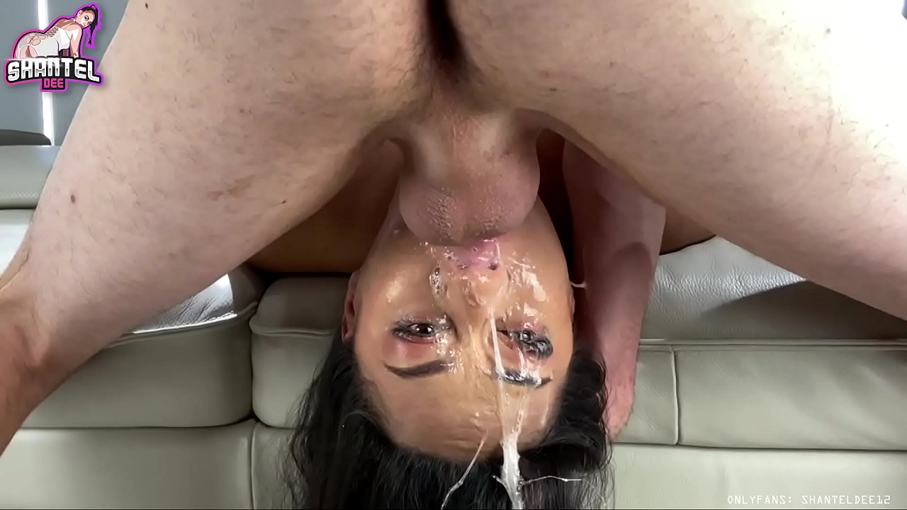 Ebony Sloppy Throat Fuck