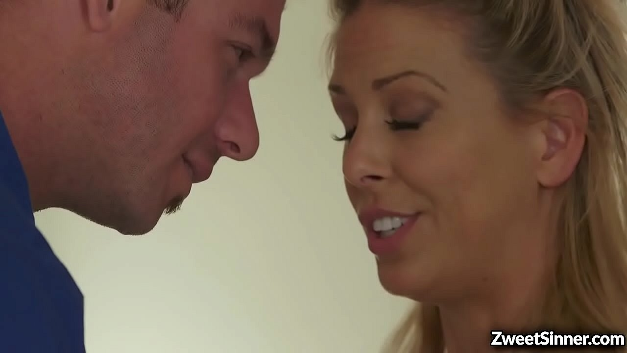 Blonde MILF Cherie DeVille couldnt contain her lust when she saw her ex lover Chad Wihite. They started an intense rough sex for the last time.