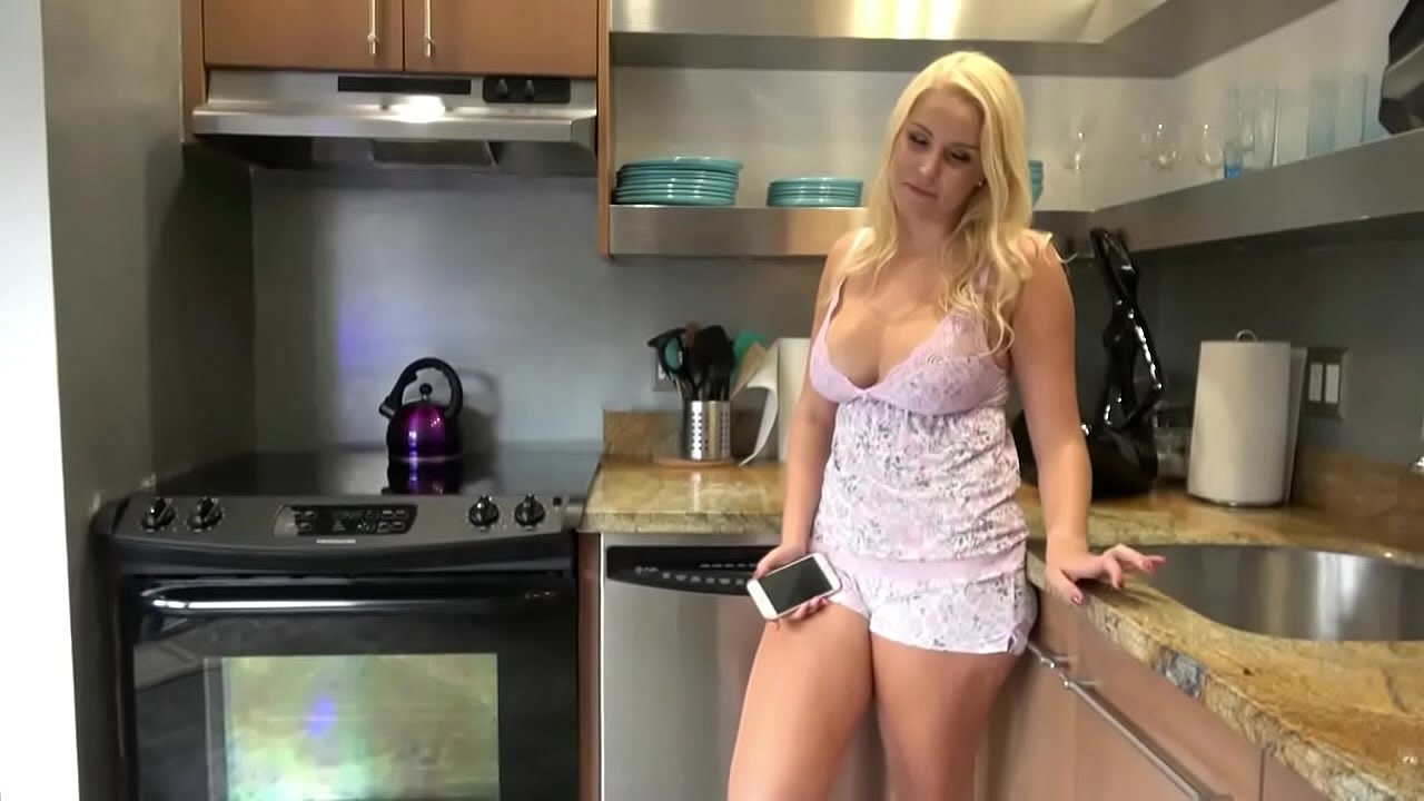 Busty Stepmother Helping Stepson  thumbnail