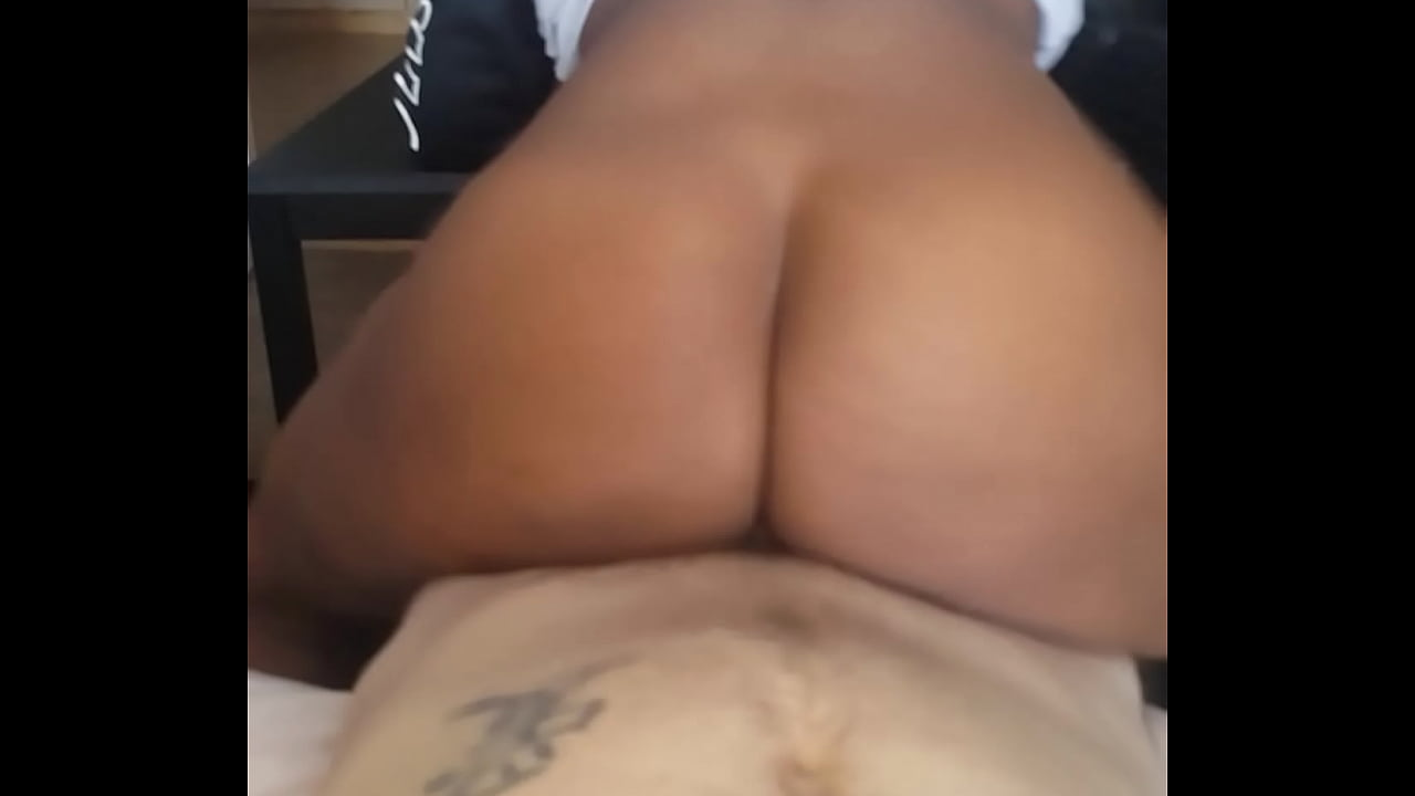Two Ebony Share White Cock