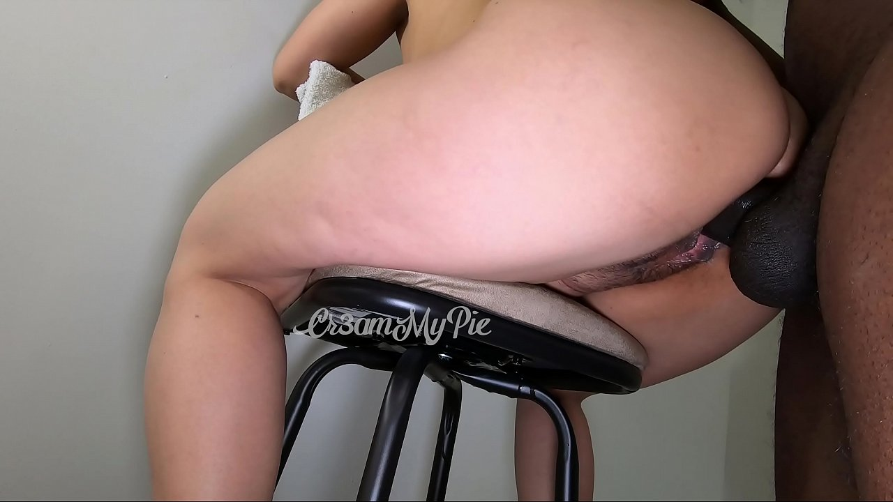 Fun time with my bar stool. Look at my waterfall creampie! It's so thick!  thumbnail