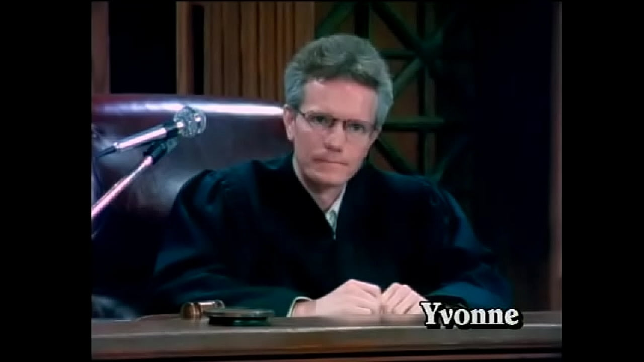 Busty blonde floozie Kathy Willets helps perverted judge to realize his dirty desire with young cute darkhaired state defendant Christi Lake and shoots their funny games on hidden cam