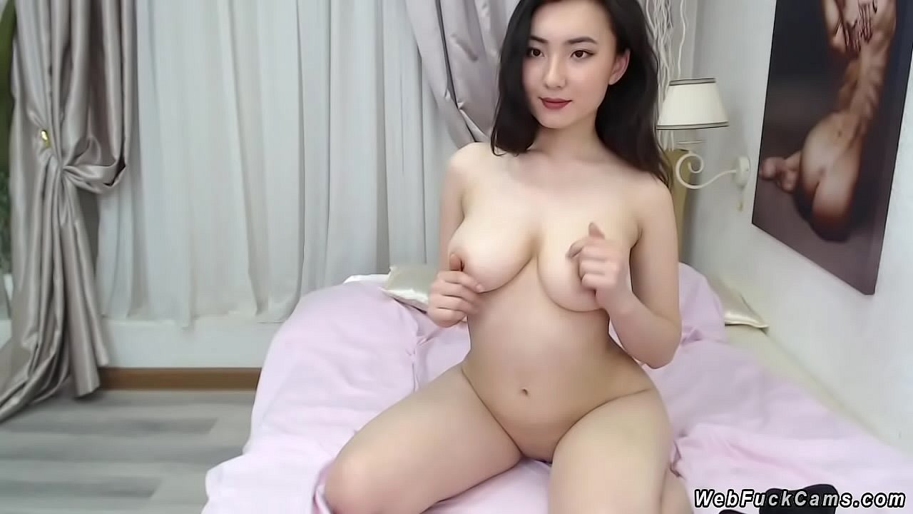 Deiri Kuon, sexy camgirl Strips and plays with her tits in Sexy webcam show